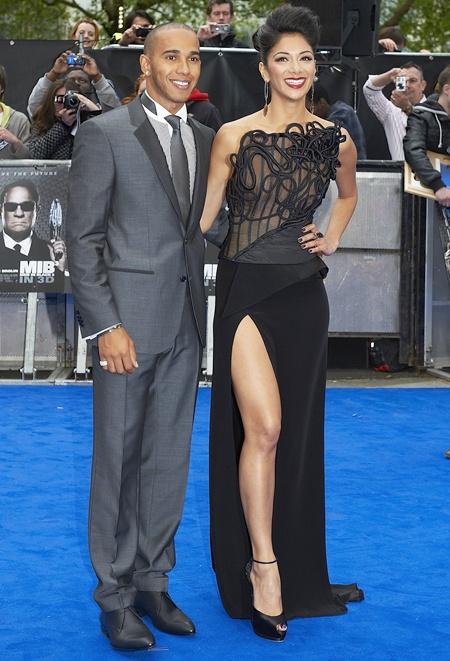 Lewis Hamilton and Singer Nicole Scherzinge
