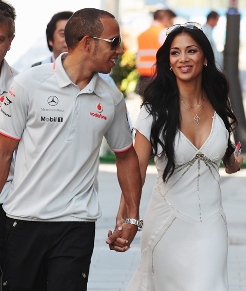 Photos: Lewis Hamilton and Nicole look loved up