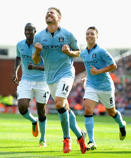 Javi Garcia of Manchester City celebrates