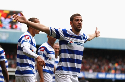 Adel Taarabt of Queens Park Rangers celebrates