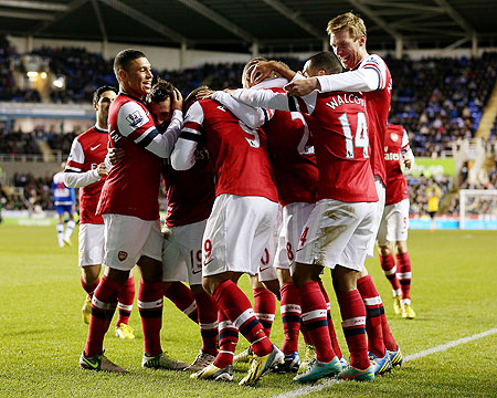 Arsenal players celebrates
