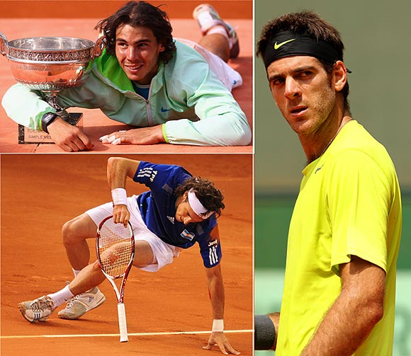 Nadal, Del Potro and Monaco won four titles apiece