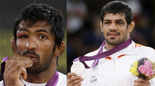 Wrestling 2012: Sushil, Yogeshwar cynosure of all eyes