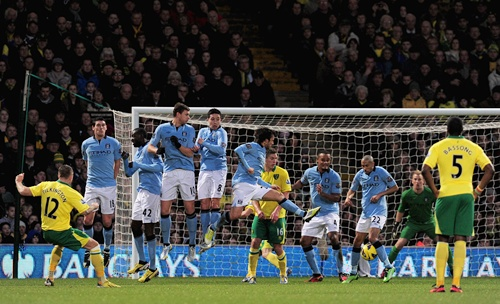 Anthony Pilkington of Norwich City scores