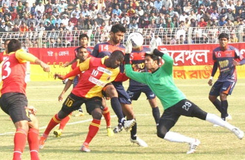 East Bengal back on track, thrash Arrows 3-0