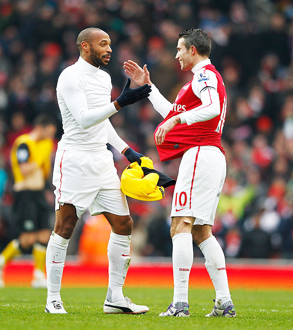 Thierry Henry and Robin van Persie