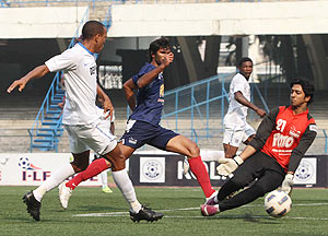 I-League action