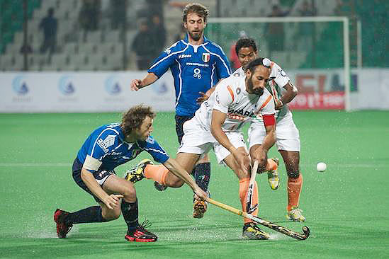 India walloped minnows Italy 8-1
