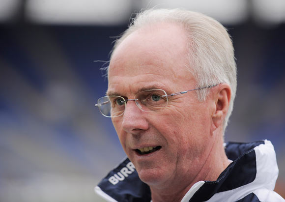 Swedish manager Sven-Goran Eriksson