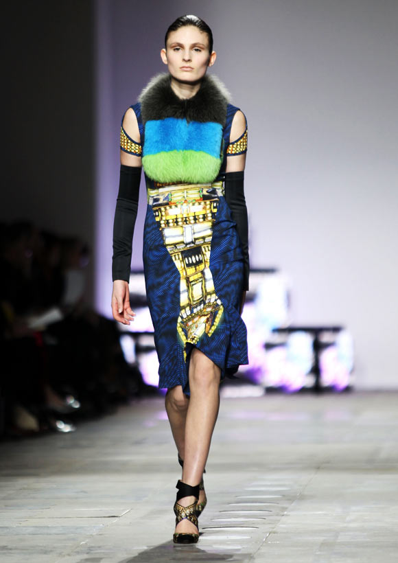 A model walks the runway during the Peter Pilotto show at the London Fashion Week