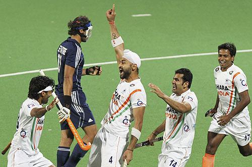 Hat-trick for Sandeep Singh