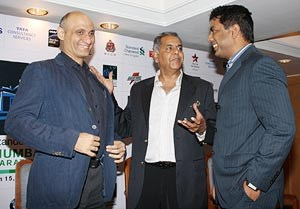 Vivek Singh, Joint MD Procam; former India cricketer Yajuvendra Singh Bilkha, Head Corporate Affairs India TCS, Debal Datta-Hed Brand Management India South Asia Standard at an event in Mumbai