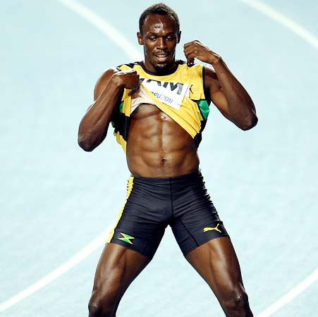 Bolt finds running easier than shooting ads