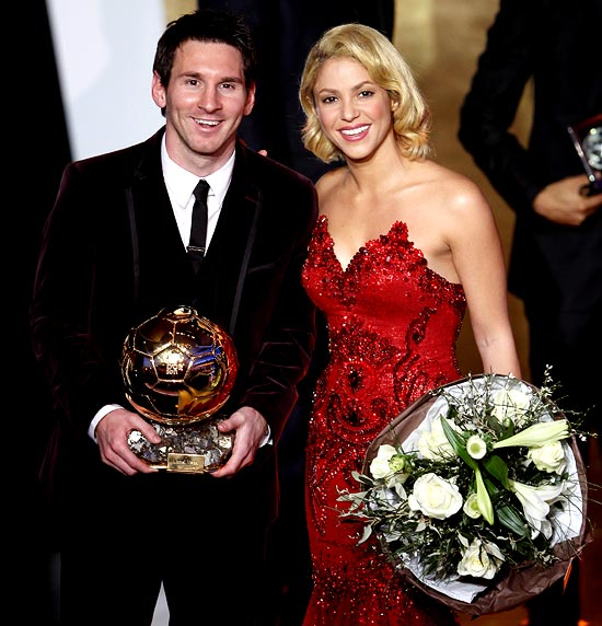 Lionel Messi with Shakira