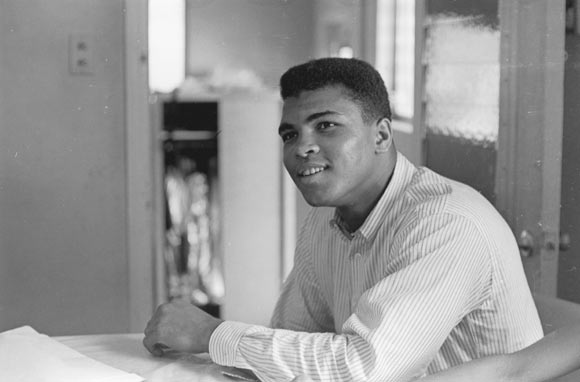 File photo of American heavyweight boxer Cassius Clay (later Muhammad Ali), February 1964