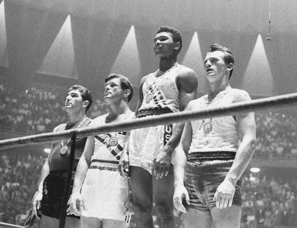 The winners of the 1960 Olympic medals for light heavyweight boxing on