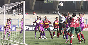 Mohun Bagan and United players in action