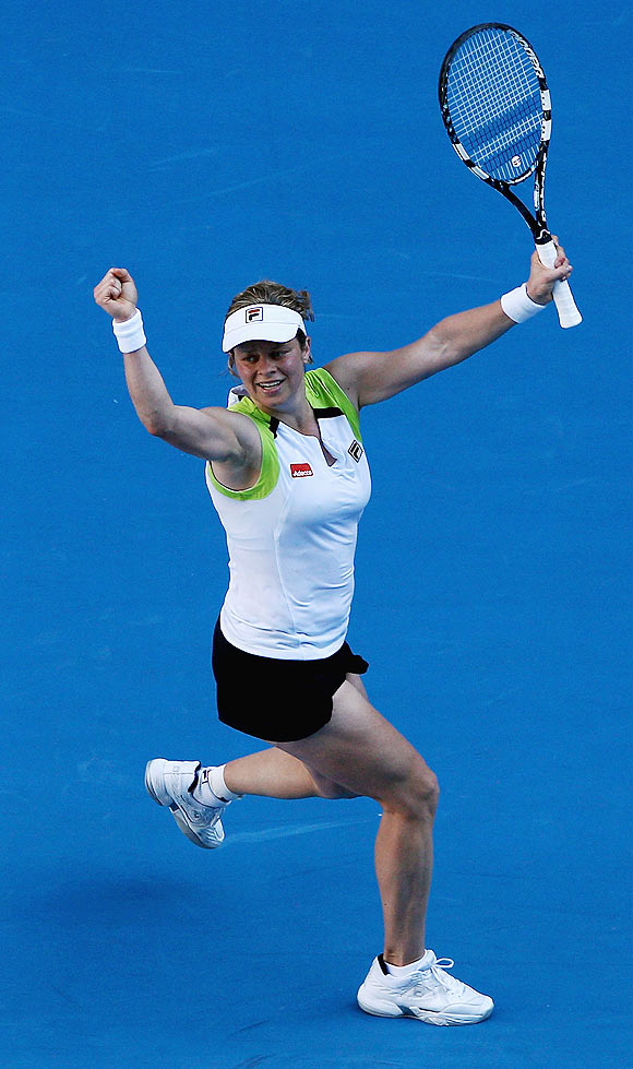 Australian Open: Clijsters saves four match points to stun Li