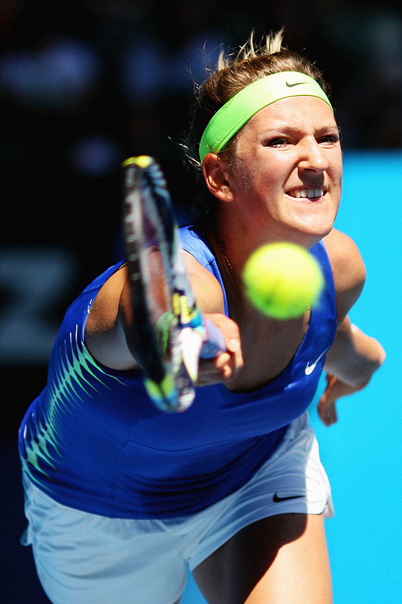 Azarenka first into Melbourne quarters