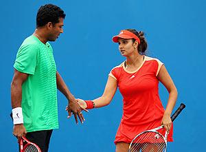 Sania Mirza and Mahesh Bhupathi