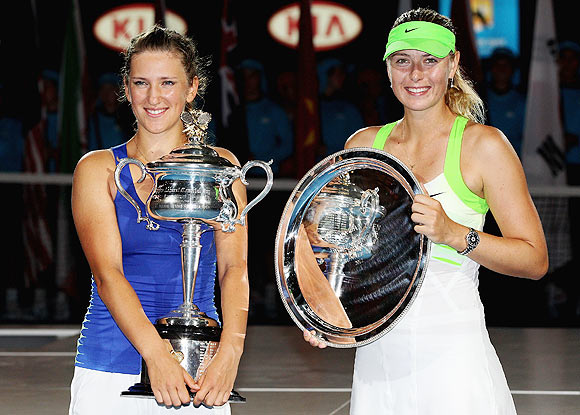 Photos: Azarenka bullies Sharapova to claim maiden Melbourne crown