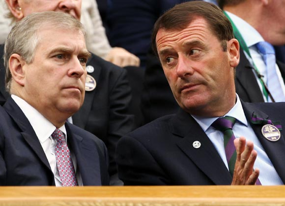 Prince Andrew adds a touch of Royalty