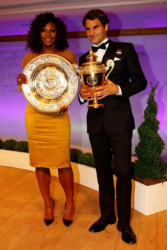 Wimbledon Singles Champions Serena Williams and Roger Federer attend the Wimbledon Championships Winners Ball on Sunday