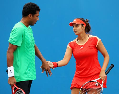 Sania Mirza with Mahesh Bhupathi