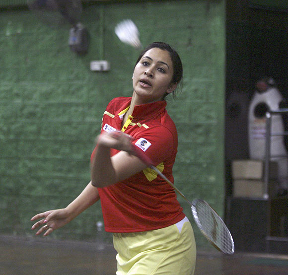 Jwala Gutta at a training session