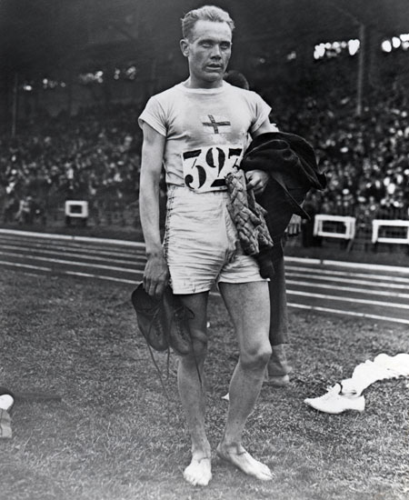 Paavo Nurmi of Finland during the VII Olympic Games in Antwerp, Belgium