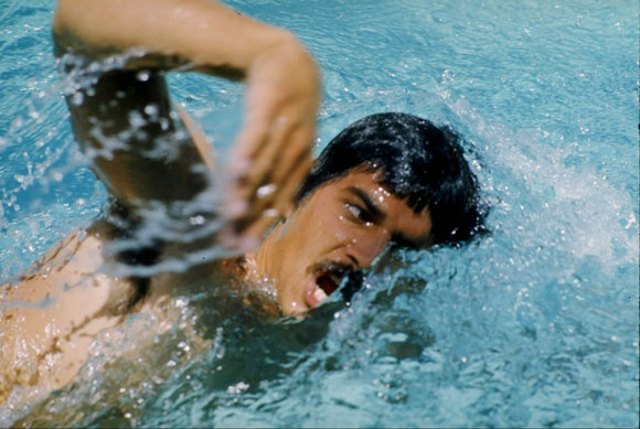 Mark Spitz of the USA in action at the 1972 Olympics Games in Munich, Germany