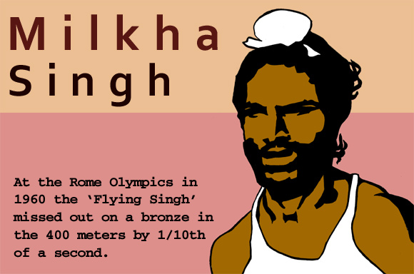 Milkha Singh missed bronze by 1/10th of a second