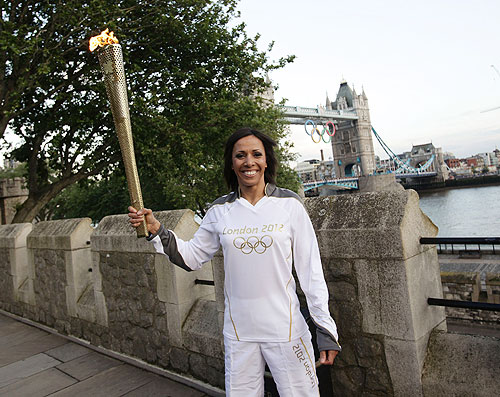Torch bearer Dame Kelly Holmes