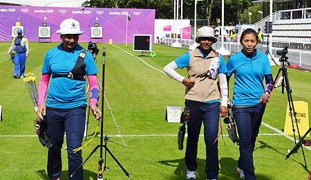 Indian archers at a training session