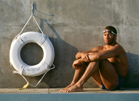 1988 Olympic 100m Butterfly gold medal winner Anthony Nesty of Suriname