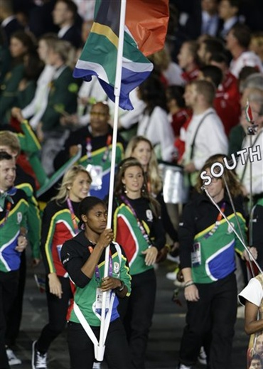 PHOTOS:  LONDON 2012 FLAG BEARERS