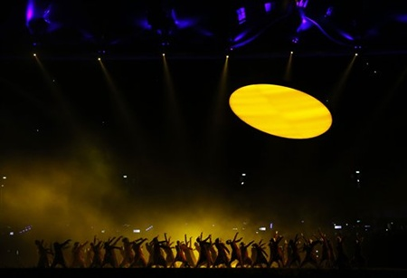 Performers dance during the Opening Ceremony