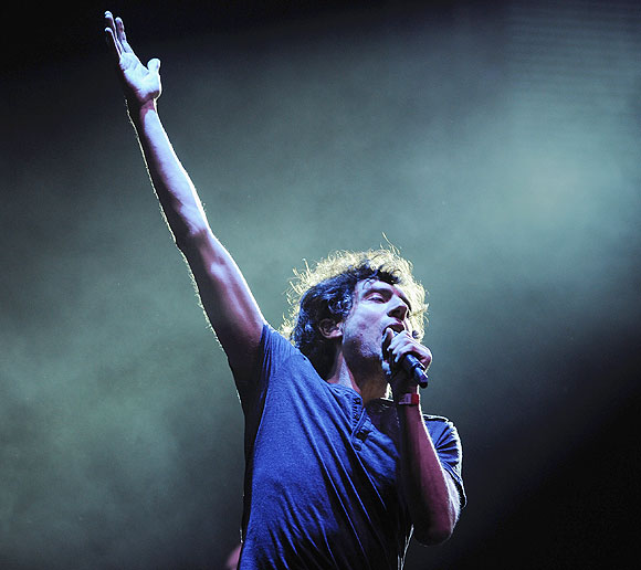 Northern Irish Singer Gary Lightbody from Snow Patrol performs on stage at Hyde Park in London on Friday