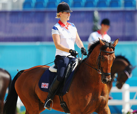 Zara Phillips of Great Britain rides High Kingdom