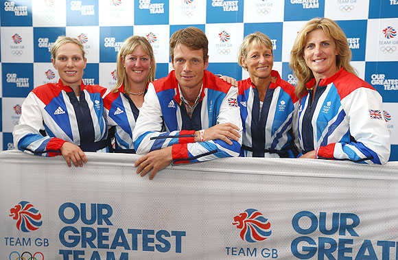 Zara Phillips, Nicola Wilson, William Fox-Pitt, Mary King and Kristina Cook of the British Equestrian team