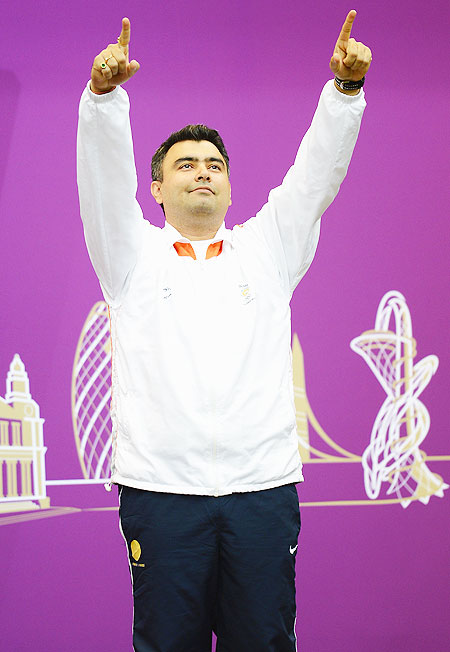 Bronze medallist Gagan Narang of India