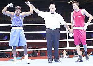 Sumit Sangwan after the bout