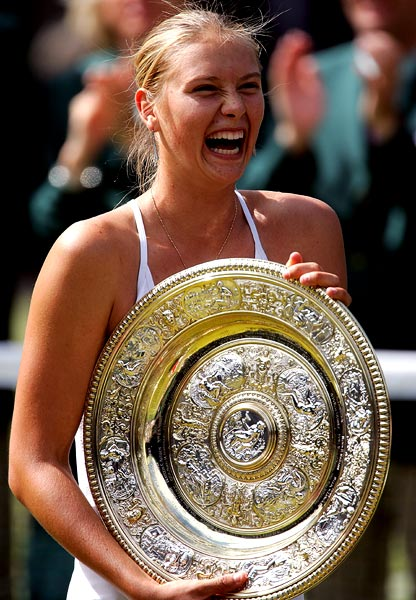 Sharapova won Wimbledon as a 17-year-old