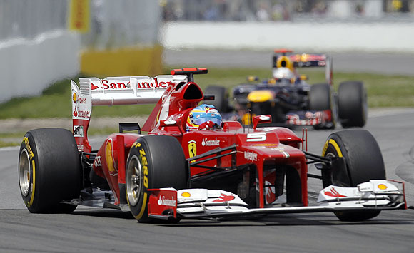 Ferrari's Fernando Alonso of Spain drives during the Canadian Grand Prix