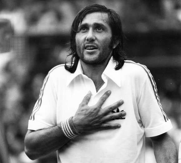 Nastase's won 57 times in his two-decade long career
