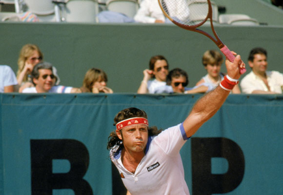 16 of Vilas' 62 career titles came in 1977