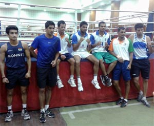 The Indian boxing team