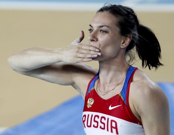 Isinbayeva has turned the women's pole vault into a crowd-puller