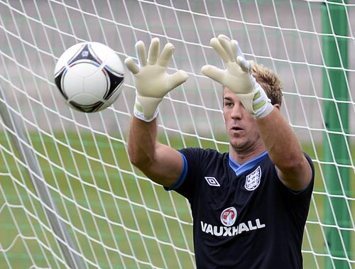 England goalkeeper Joe Hart