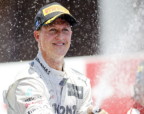 Mercedes Formula One driver Michael Schumacher